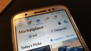 Facebook marketplace shown on mobile