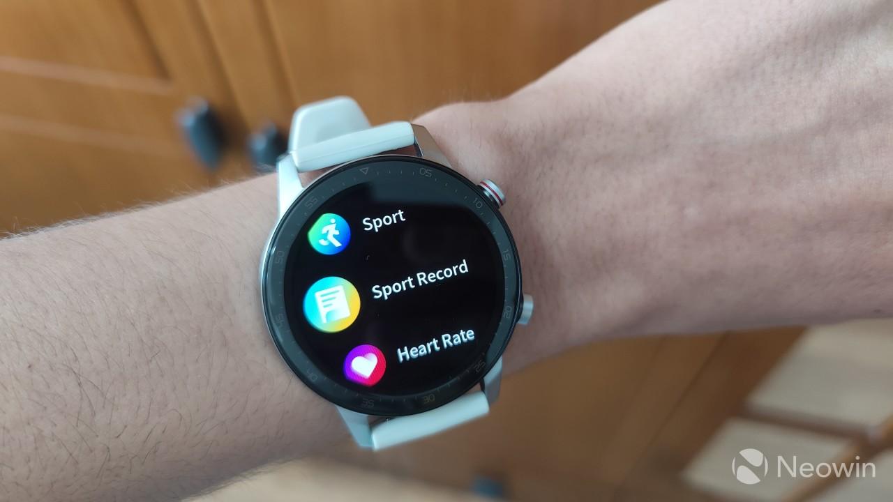The app menu on the RedMagic Watch
