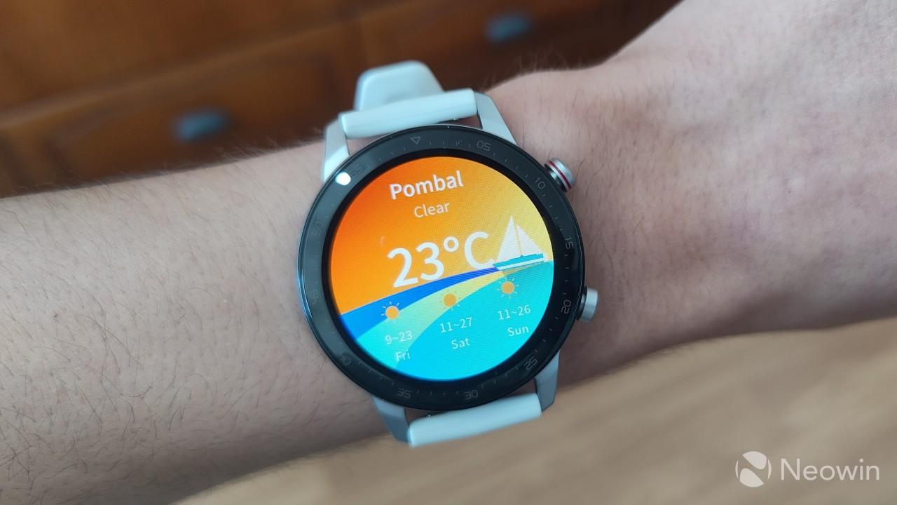Weather widget on the RedMagic Watch