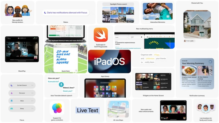 iPadOS 15 features list