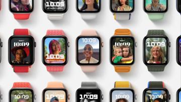 WatchOS 8 stock image
