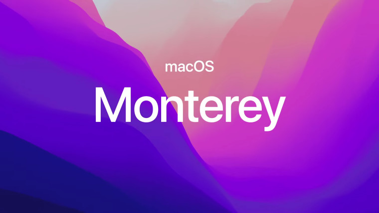 macos monterey written on a colorful background