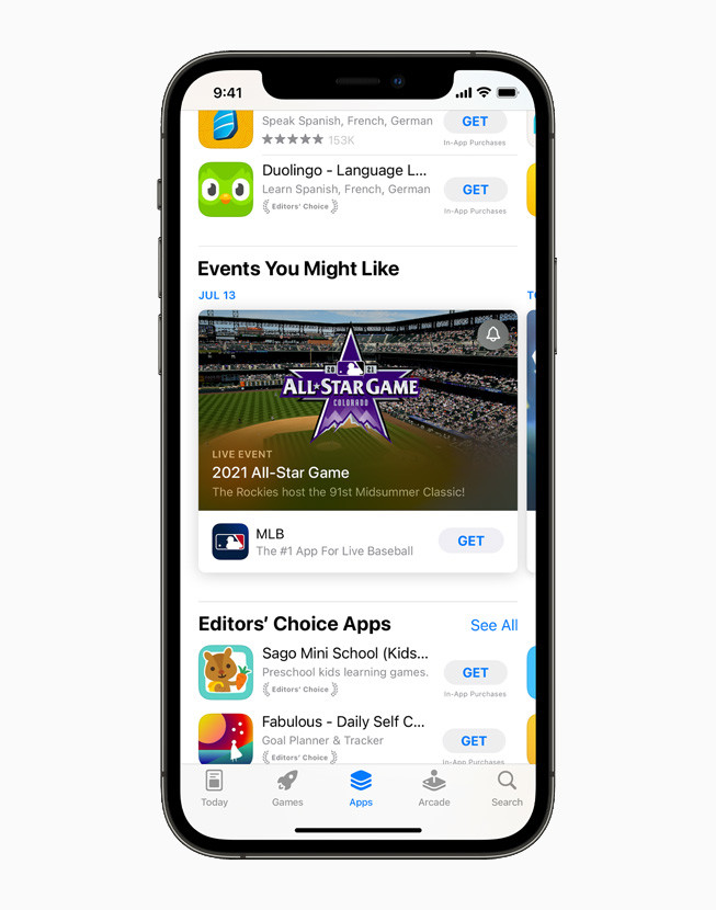 Live app events in the App Store