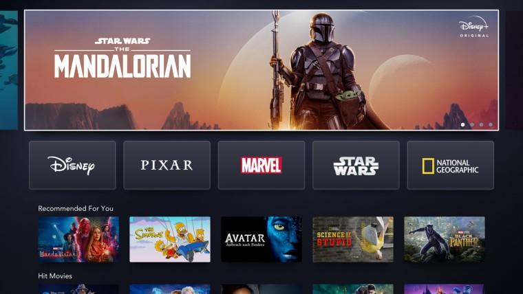 Disney Plus app on Xbox