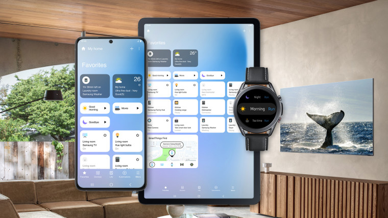 The new SmartThings UI on various devices