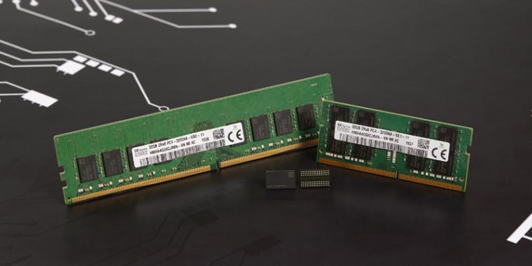 Memory sticks alongside DRAM chips