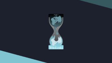 The Wikileaks logo on a dark background