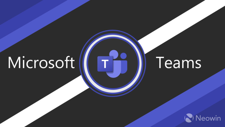 Microsoft Teams logo with shapes around it in the various colors of the Teams logo