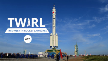The TWIRL logo next to the a Long March rocket