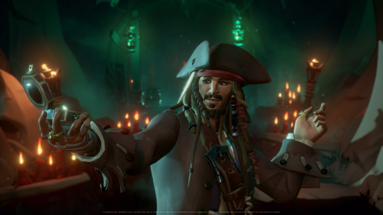 Sea of Thieves A pirate&039s life screenshot featuring Jack Sparrow