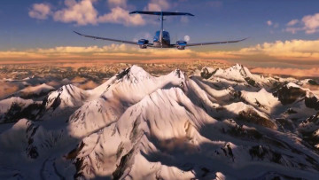Flight Simulator game screenshots being played on the Xbox Series X
