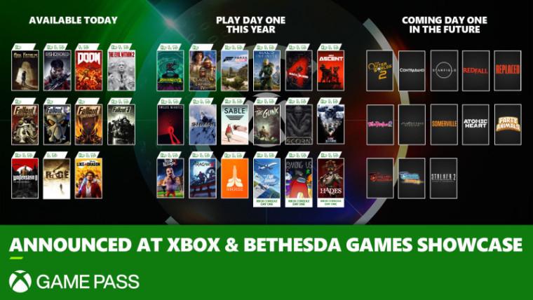 Xbox Bethesda showcase Game Pass reveals