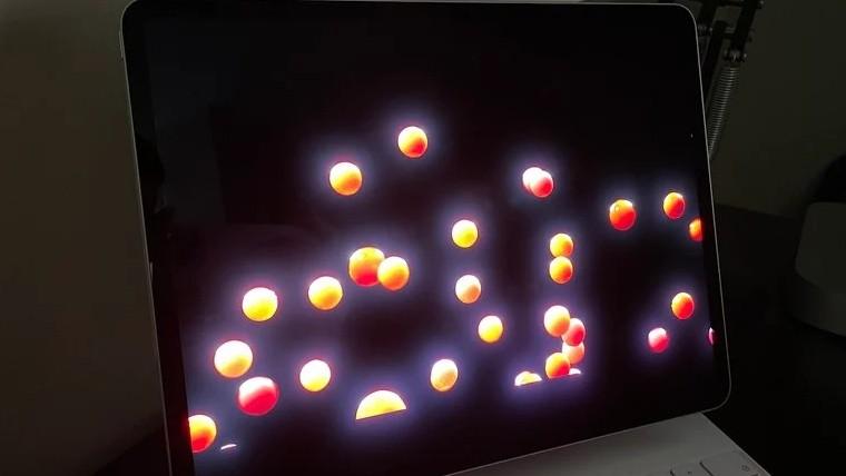 iPad Pro mini LED display blooming