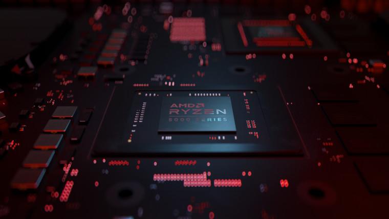 Render showing an AMD Ryzen 5000 chip