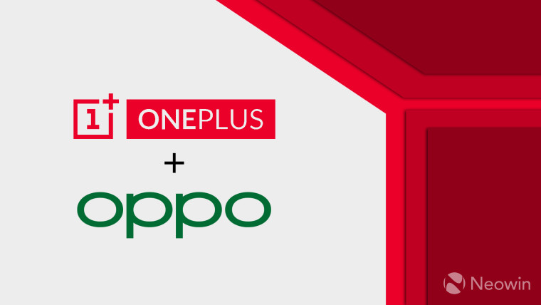 OnePLus and OPPO logos with a plus sign in between