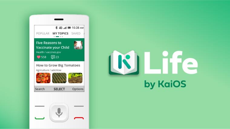 The Life app on KaiOS