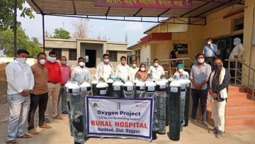 A group of people from Oxygen Project India
