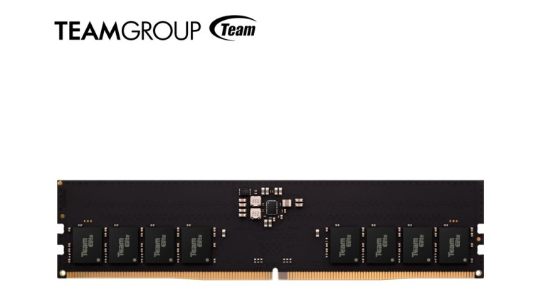 Teamgroup DDR5 module with the companys logo above