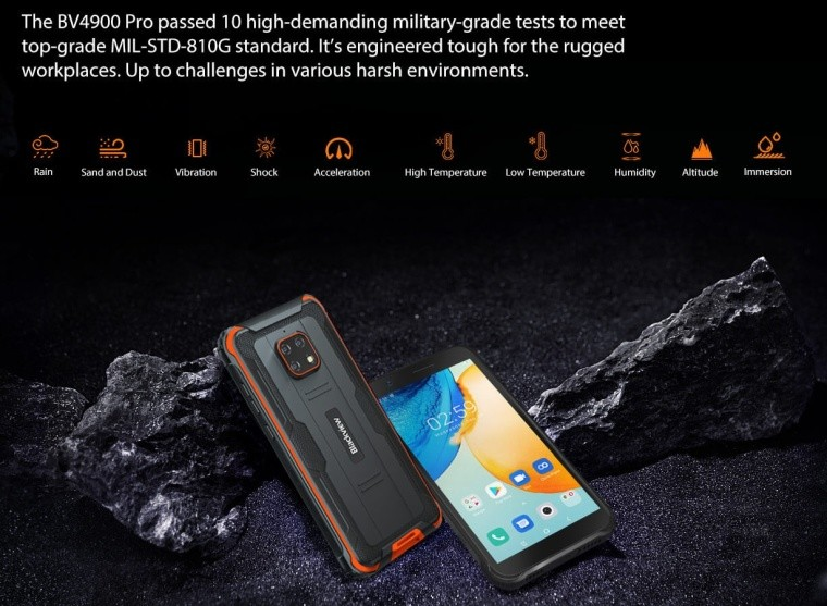 BlackView rugged phone specifications
