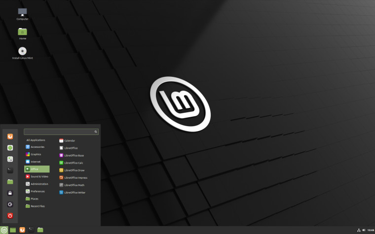 The Cinnamon version of Linux MInt 202 beta