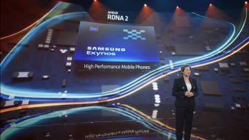 AMD CEO Lisa Su presenting RDNA 2 for Samsung Exynos
