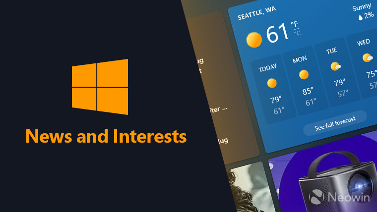 News and Interests Windows 10