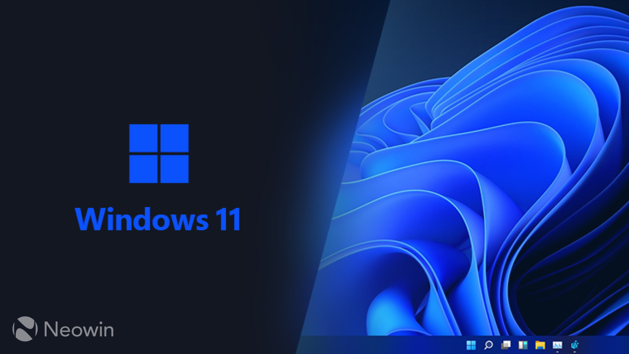 Windows 11 screenshot from the leaked build