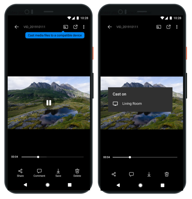 New OneDrive feature to cast photos and videos to your TV with Chromecast
