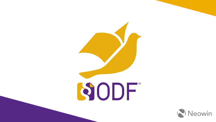 The ODF logo on a white purple and yellow background
