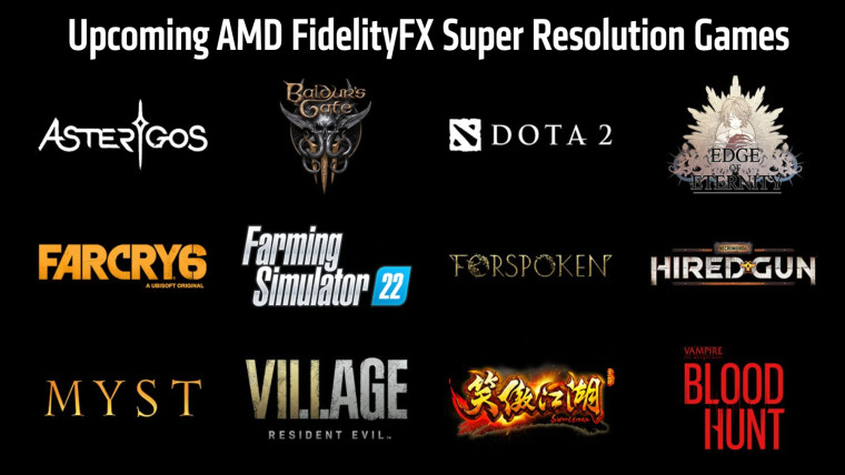 Upcoming game list for AMD FidelityFX Super Resolution