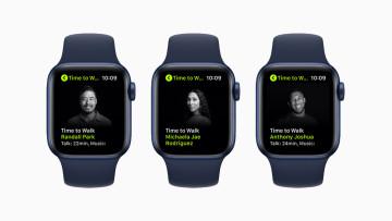 Apple&039s Time to Walk displayed on Apple Watch