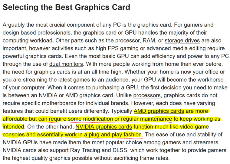 Micro Center controversial GPU buying advice