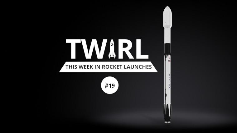 The Falcon 9 next to the TWIRL logo