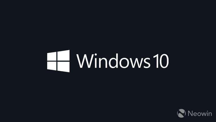 Windows 10 logo white on dark blue-grey background