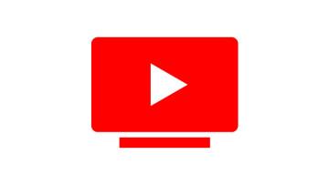The YouTube TV logo on a white background