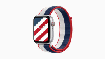 The US Stripes Apple Watch band and watch face