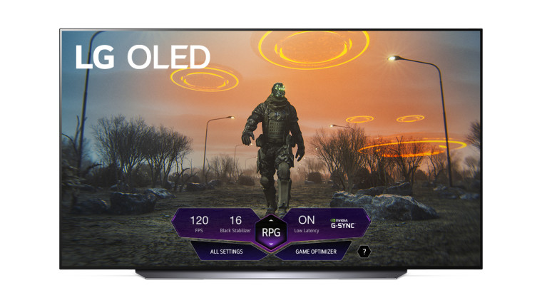 LG TV with Game Dashboard