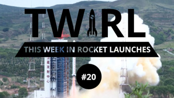 The TWIRL logo in front of a Long March rocket