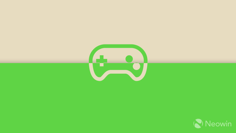 Segoe MDL Assets 2 controller icon on beige and green background