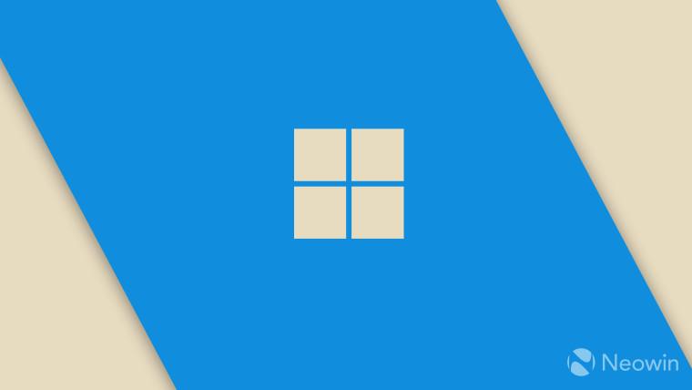 Windows 11 logo on blue background