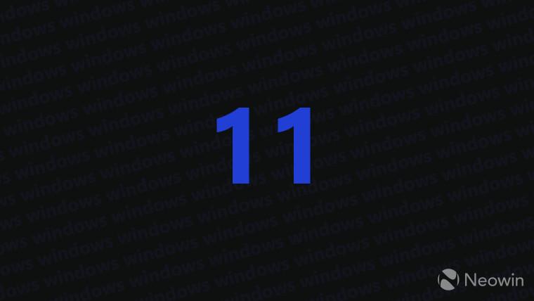 The number 11 blue on dark grey background