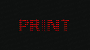 The word Print with nightmare in red used as a clipping mask