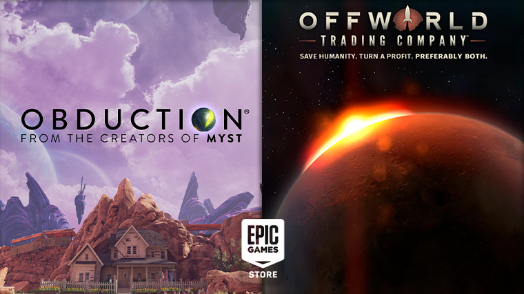 Obduction and Offworld Trading Company are free on the Epic Games Store
