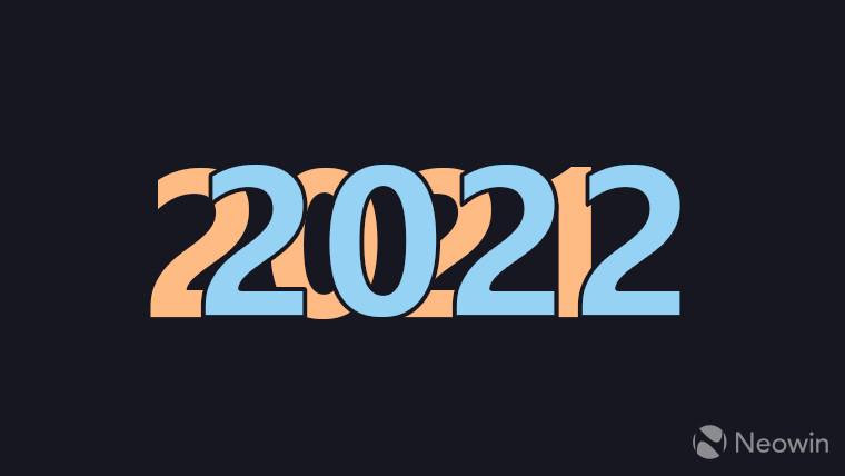 2022 superimposed onto 2021