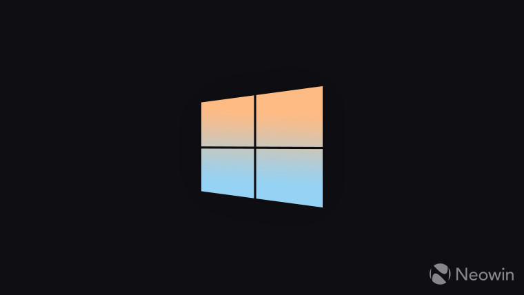 Windows 10 logo gradient from blue to peach