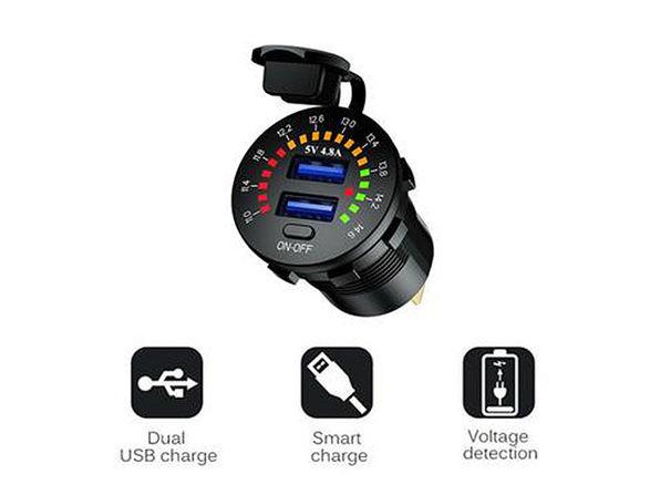 LED Fast Car Dual USB Charger