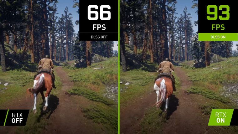 Red Dead Redemption 2 DLSS off vs on comparison