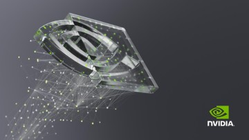 Nvidia Logo on dark background