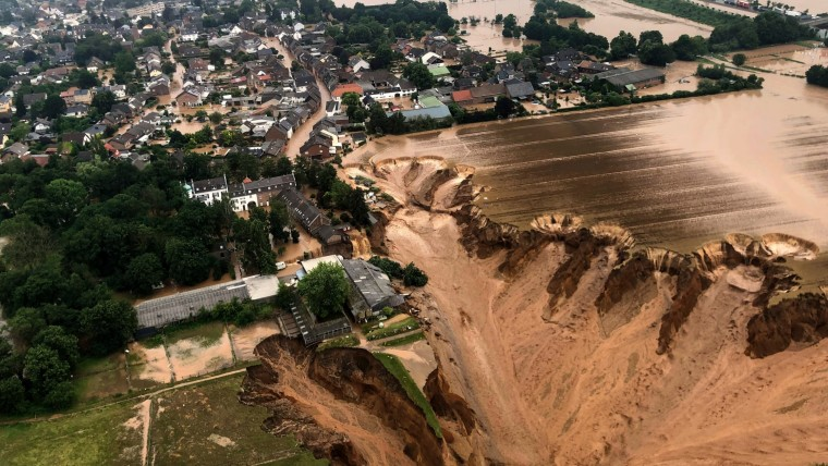 Massive flood water rages on