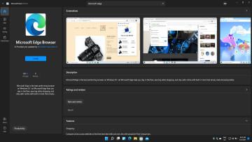 Screenshot of Edge on Microsoft Store